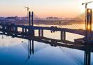 航拍汉江特大桥