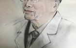 八旬退休老医生的书画情缘 他的画里弘扬着正能量