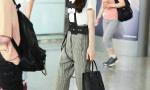 星街拍:张碧晨最新机场look 清爽帅气少女感十足
