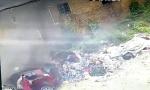 山东少女火海中救出被困司机 1秒后大火吞噬车厢