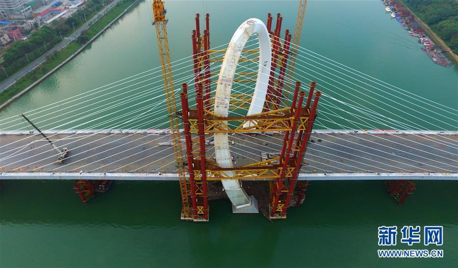 #(经济)(1)广西柳州白沙大桥主桥主体完工