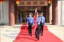 河南西华县委机关举行升国旗仪式庆祝新中国成立70周年